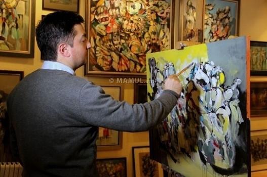 """""""Все, что у меня сегодня есть, было создано благодаря вере, потому что с того дня, как я начал рисовать, я верил в то, что я делаю, и это очень важно…"""",- сказал художник Арам Даниелян во время интервью с журналистом MAMUL.am"""