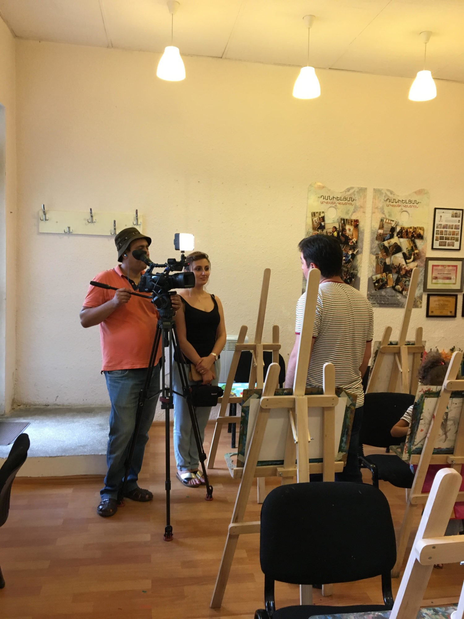 "The camera crew of the program ""On The Roads of Foreign Lands"" was in ""Danielyan Art Studio"""