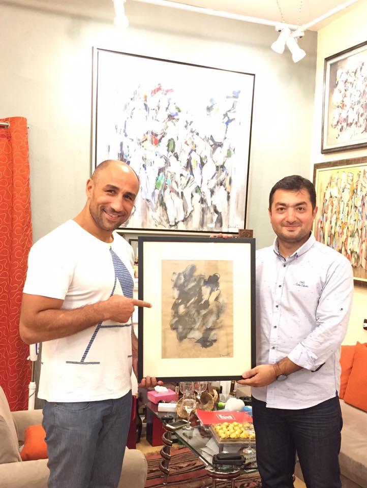 "Arthur Abraham was the guest of artist Aram Danielyan in ""Danielyan"" Art Studio"